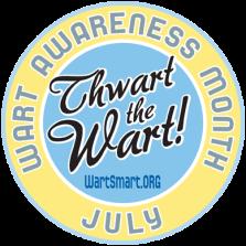 Wart Awareness Month button